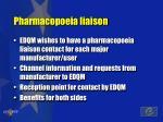 pharmacopoeia liaison