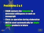 procedures 3 4