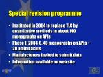 special revision programme