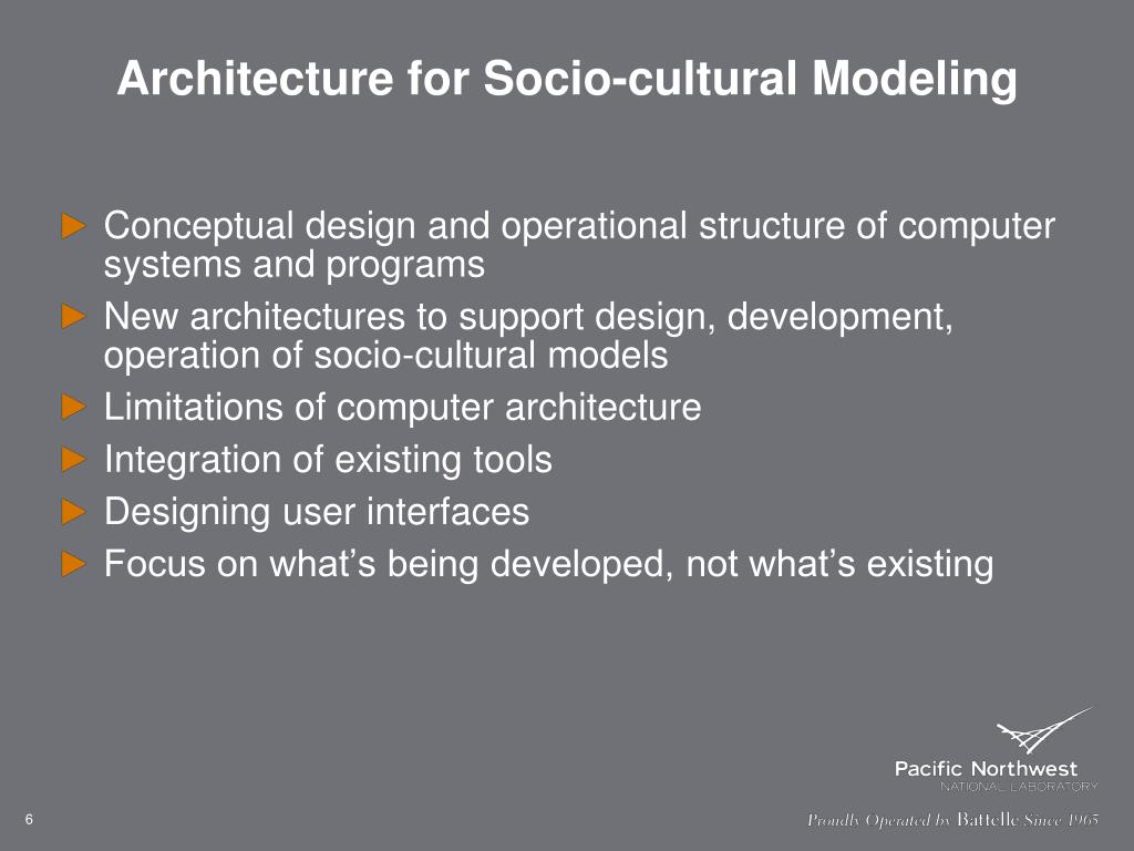 Architecture for Socio-cultural Modeling