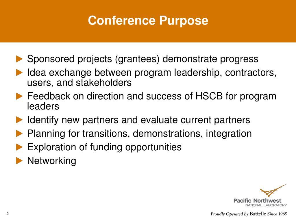 Conference Purpose