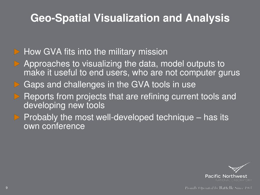Geo-Spatial Visualization and Analysis