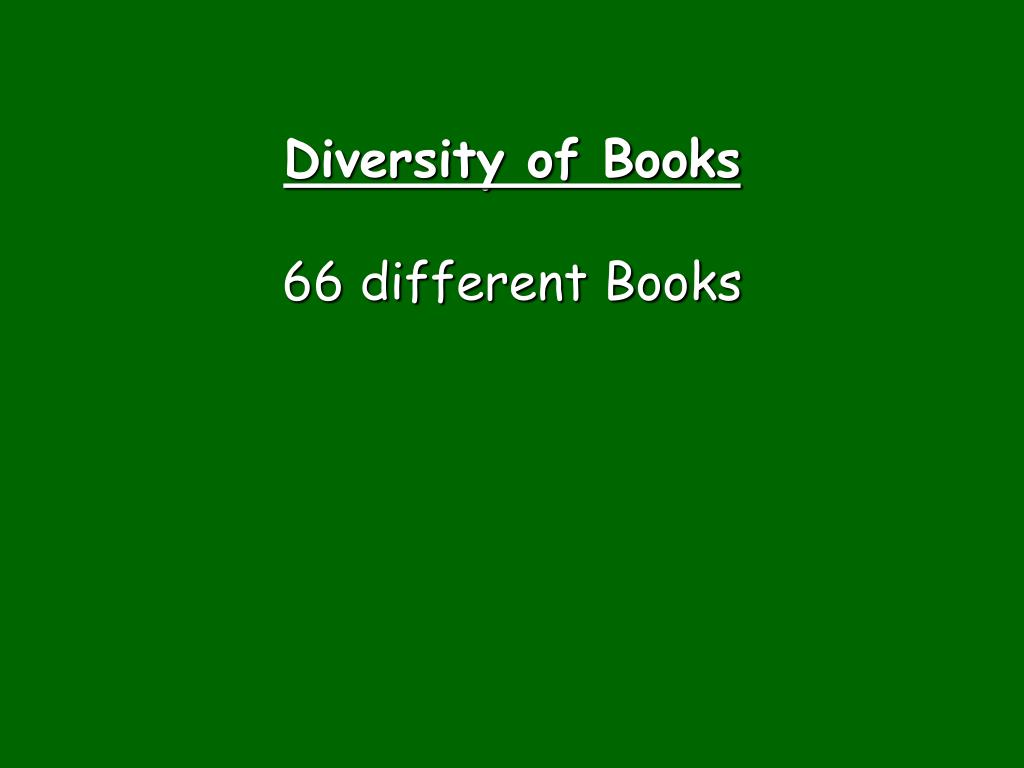 Diversity of Books
