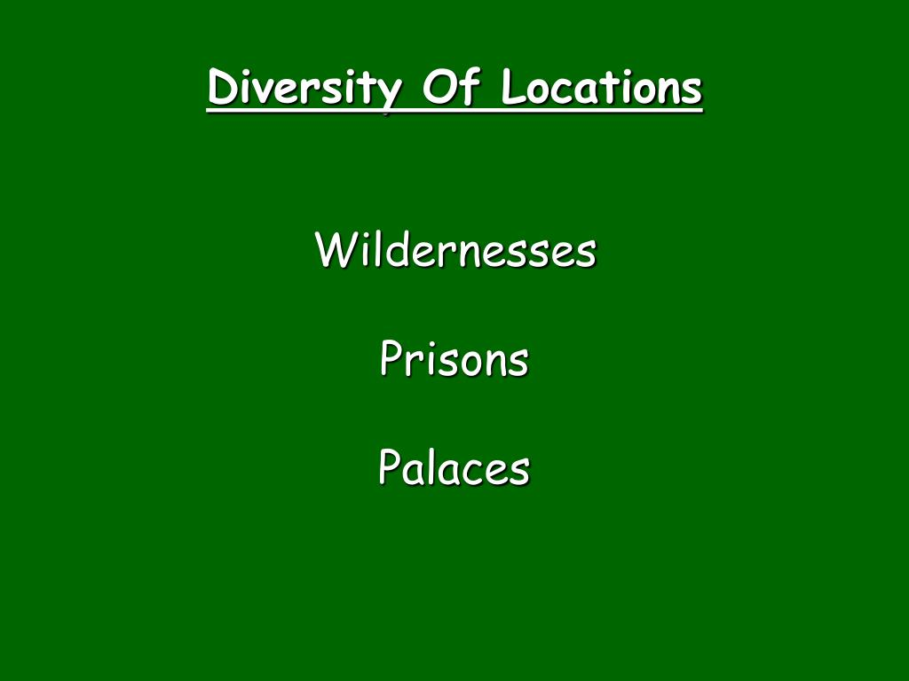 Diversity Of Locations