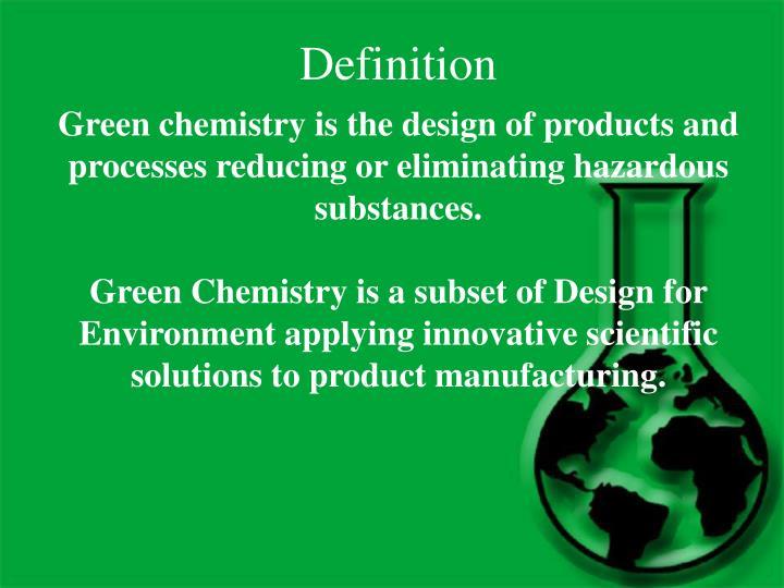 Powerpoint presentation on green chemistry