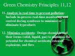 green chemistry principles 11 12