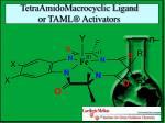 tetraamidomacrocyclic ligand or taml activators