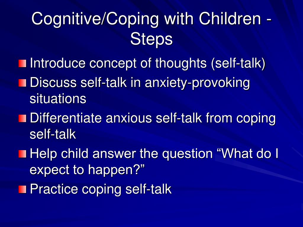 Cognitive/Coping with Children - Steps