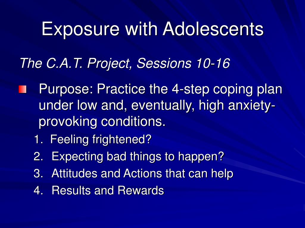 Exposure with Adolescents