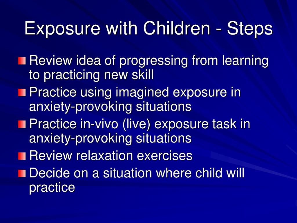 Exposure with Children - Steps