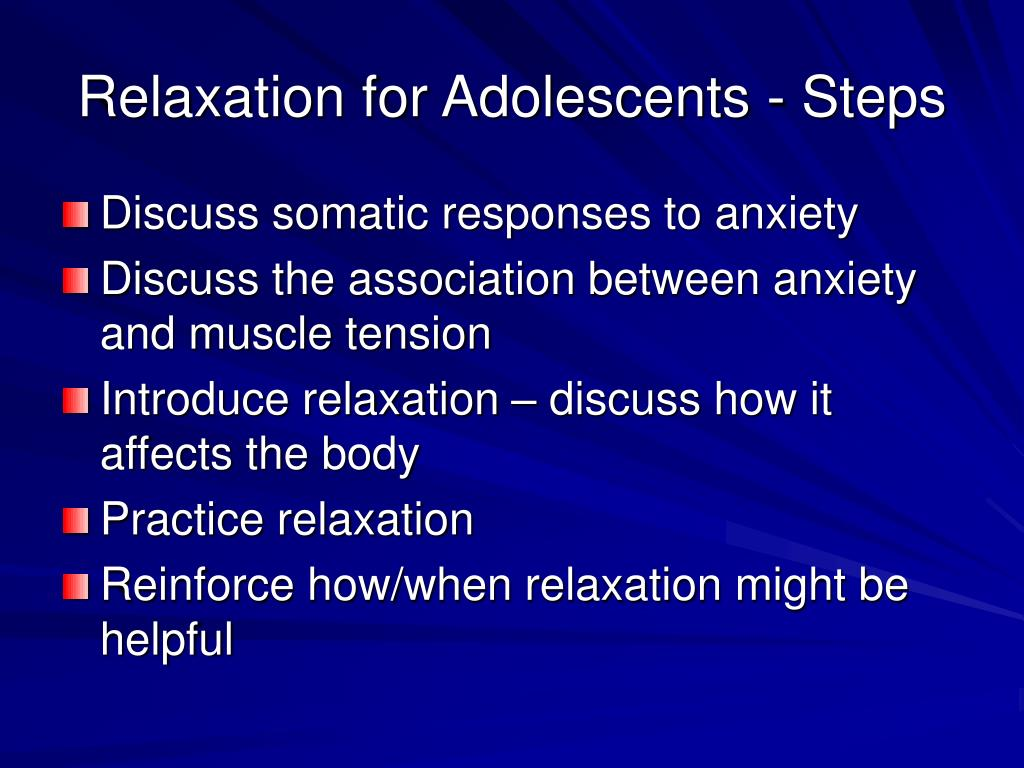 Relaxation for Adolescents - Steps