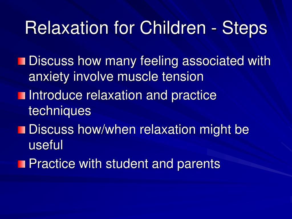 Relaxation for Children - Steps