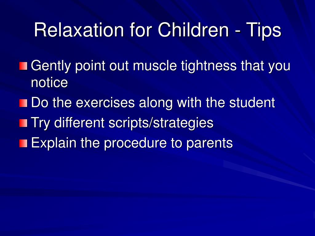 Relaxation for Children - Tips