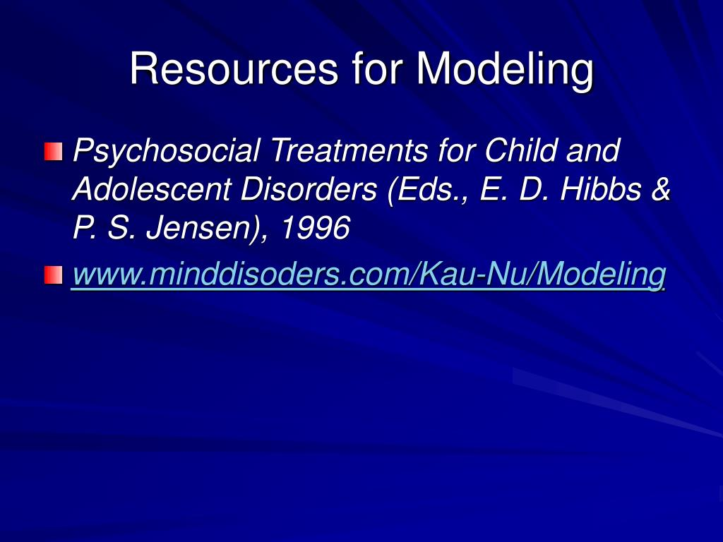 Resources for Modeling