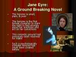 jane eyre a ground breaking novel