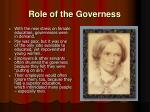 role of the governess