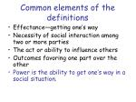 common elements of the definitions