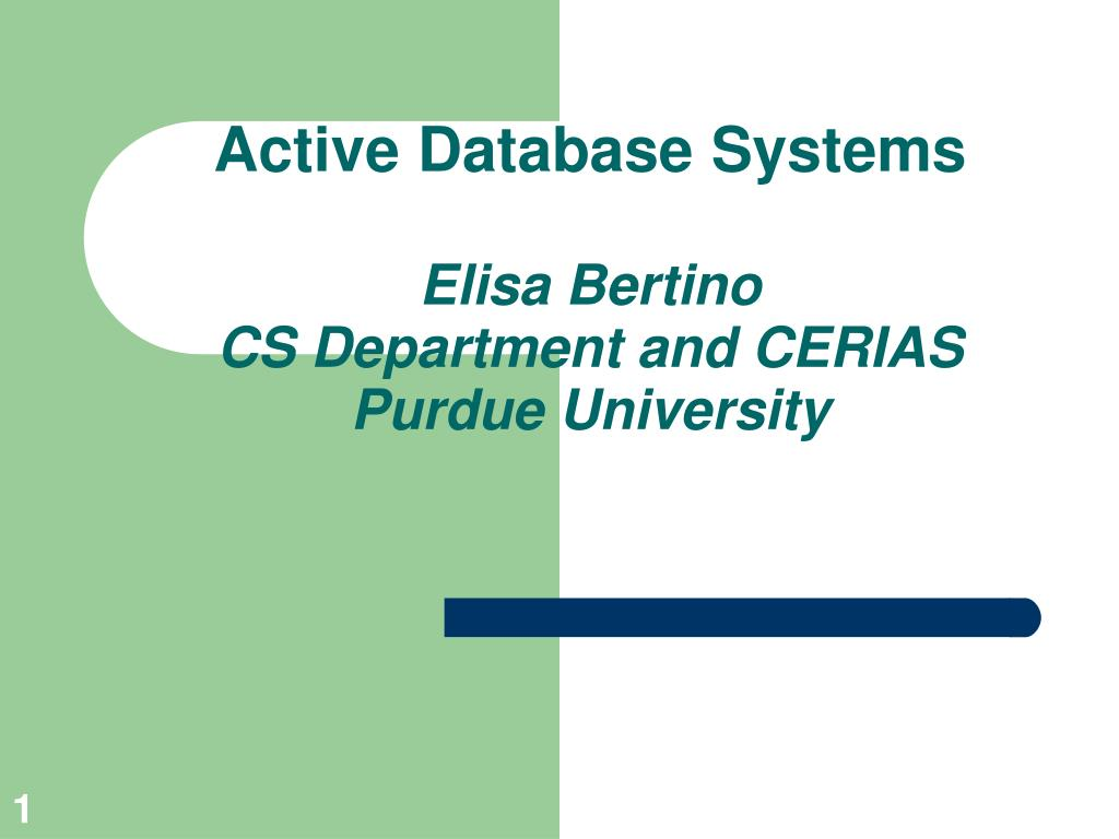 Active Database Systems