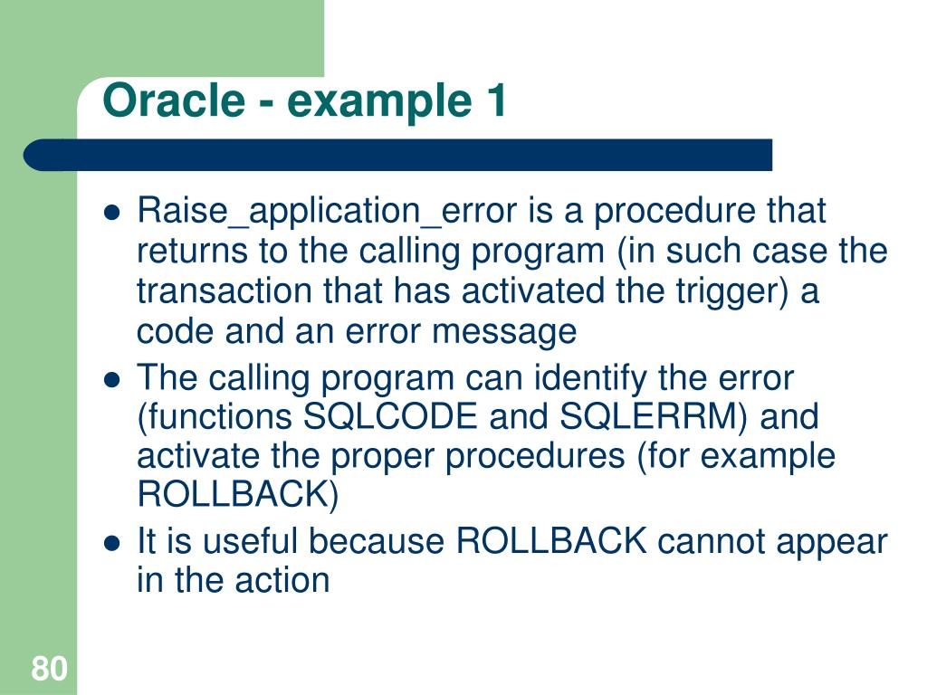 Oracle - example 1
