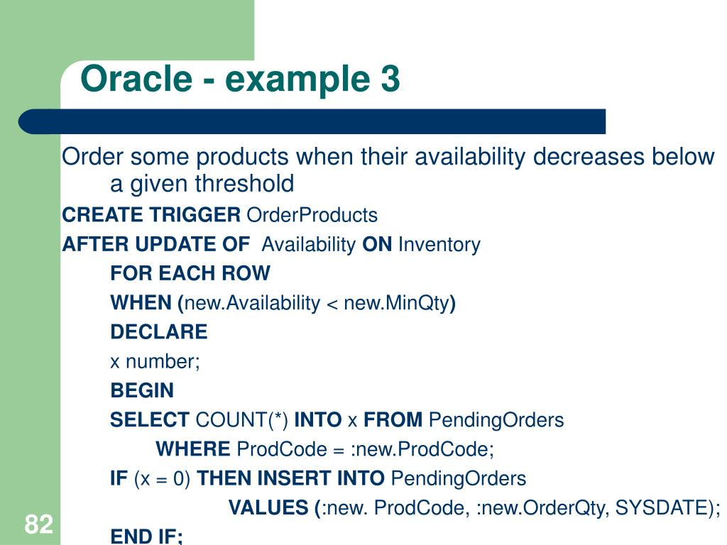 Oracle - example 3