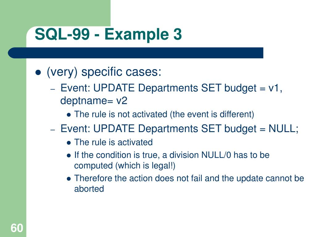 SQL-99 - Example 3