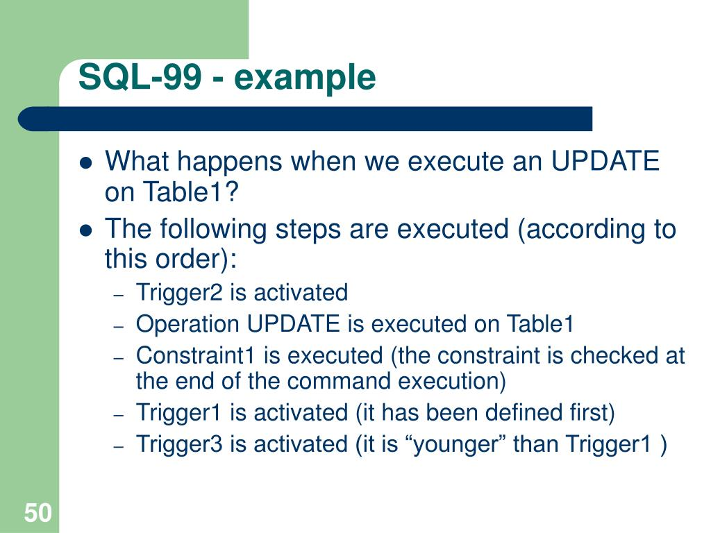 SQL-99 - example