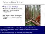 detectability of actions56