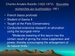 charles amable bataille 1822 1872 nouvelles recherches sur la phonation 1861