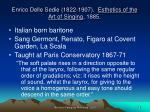 enrico delle sedie 1822 1907 esthetics of the art of singing 1885