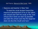 ida franca manual of bel canto 1956