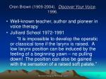 oren brown 1909 2004 discover your voice 1996
