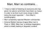 marr marr so contraire