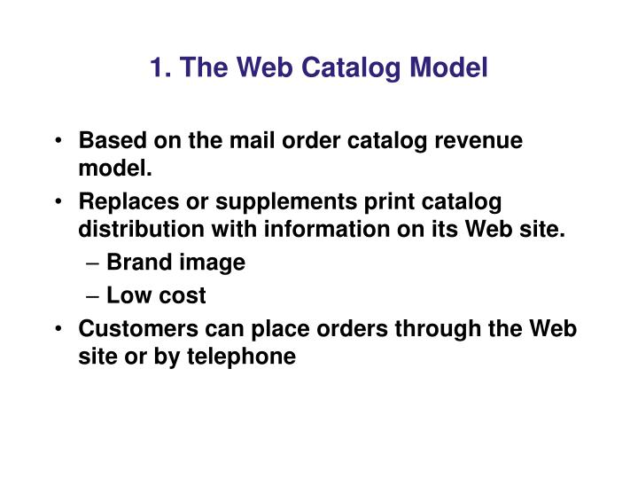 1 the web catalog model