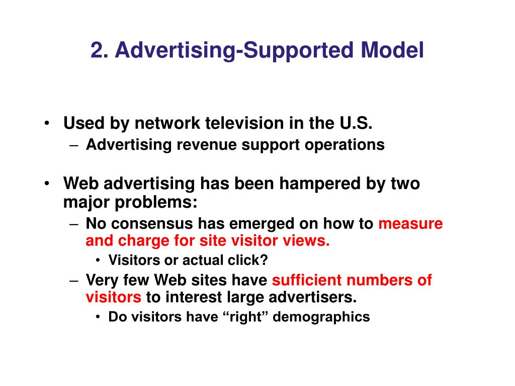 2. Advertising-Supported Model