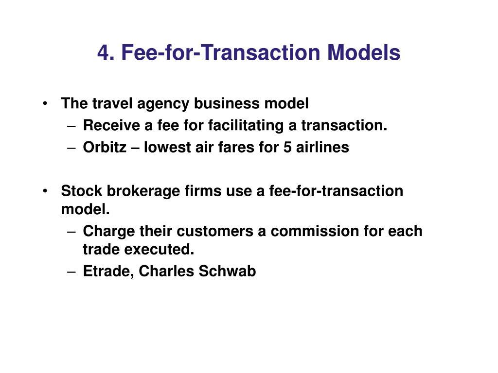 4. Fee-for-Transaction Models