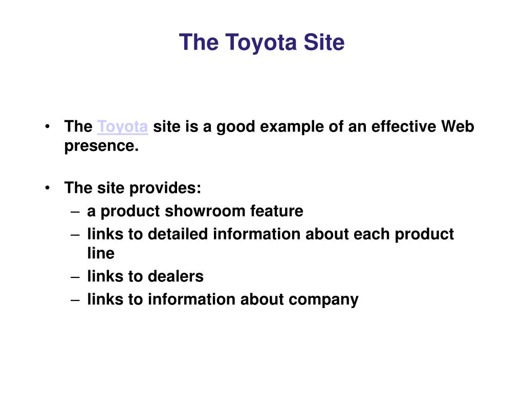 The Toyota Site