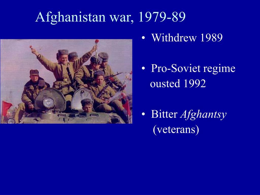 Afghanistan war, 1979-89