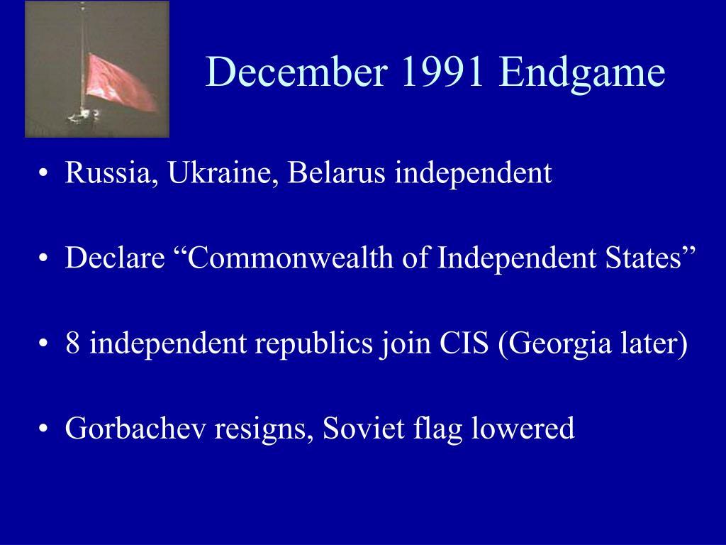 December 1991 Endgame