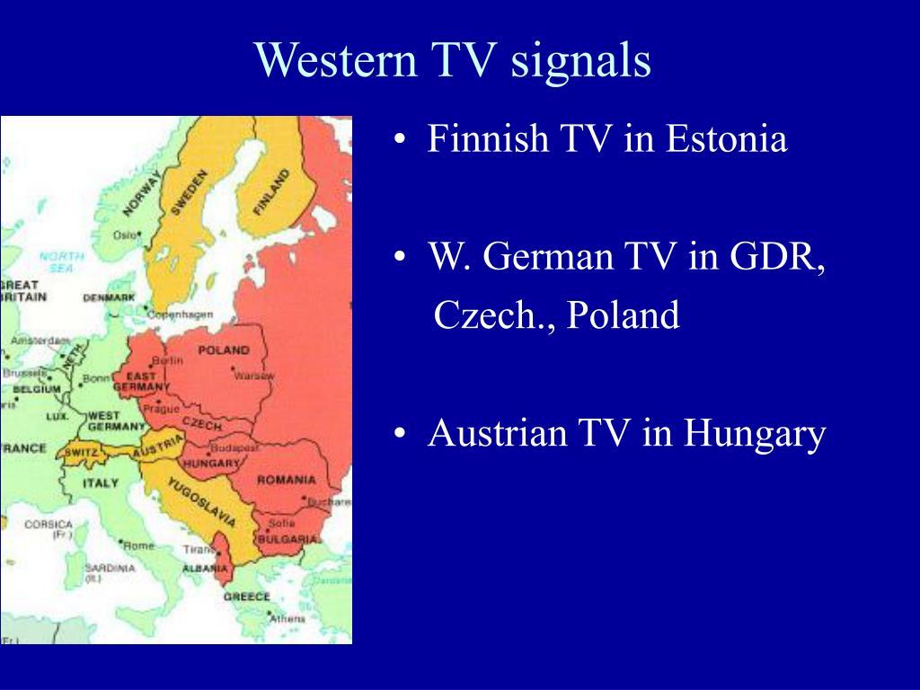 Western TV signals