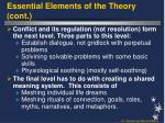 essential elements of the theory cont