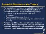 essential elements of the theory