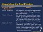 mismatches the real problem