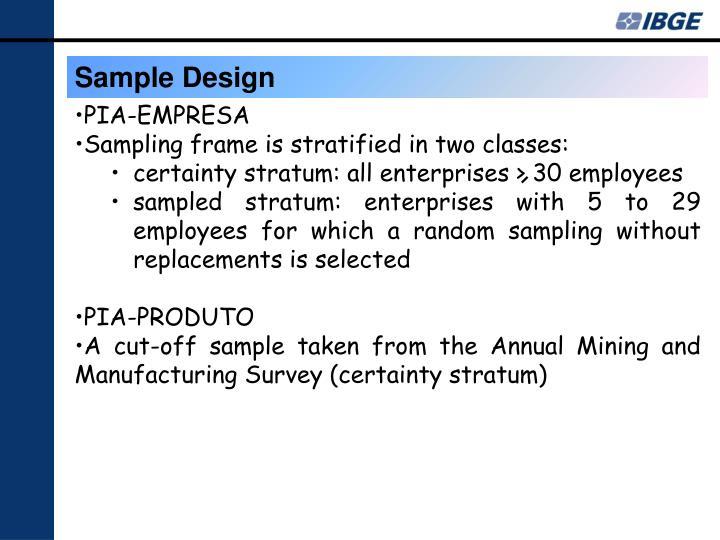 Sample Design