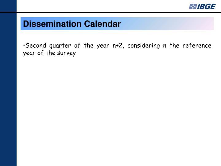 Dissemination Calendar