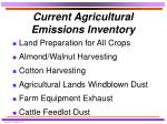 current agricultural emissions inventory