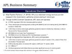 apl business summary