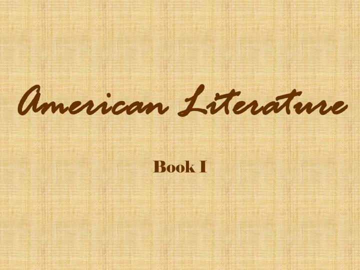 american literature n.