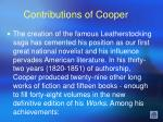 contributions of cooper