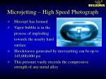 microjetting high speed photograph