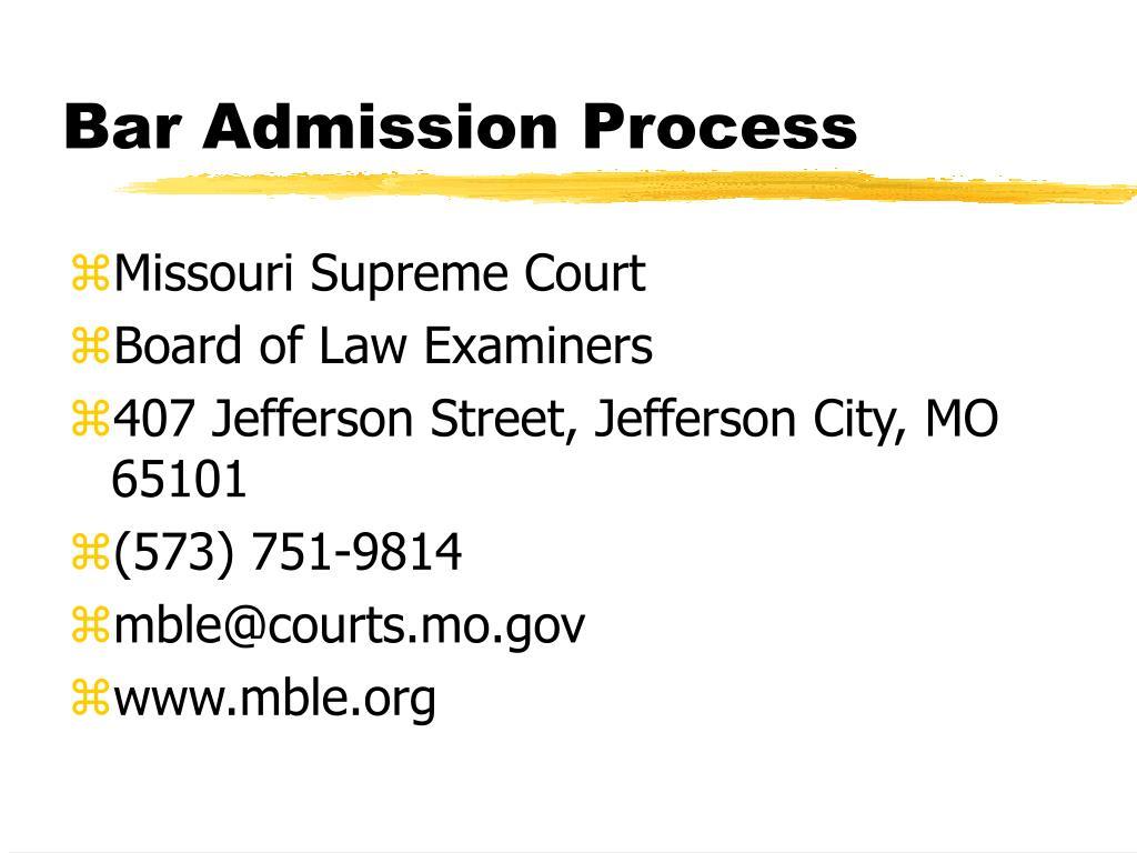 bar admission process l.